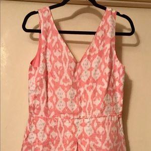Pink linen sleeveless Gap dress